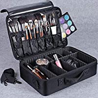 Large Capacity Makeup Brush Bag Case Cosmetic Pouch Storage Handle Organizer Travel,black