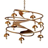 Bits and Pieces - Harmony Bell Windchimes - Nine Piece Metal Bells Hanging Chimes - Musical Outdoor Lawn and Garden Décor