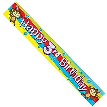 Age 3 Boy Multicoloured Foil Party Banner