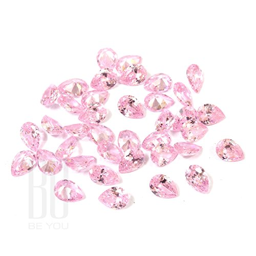 Be You Rose Couleur Zircone Cubique AAA Qualité 10x12 mm Diamant Coupe Poire Forme 100 pcs gemme