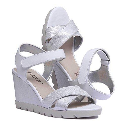 Lot Womens Silver Flexx Off White The Sandal Leather Golden Tan Matt twZqF5F