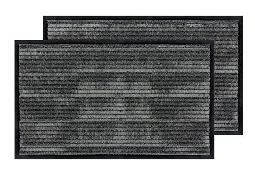 2 Pack- Bertte Super Absorbent Entrance Doormat Eco- Friendl