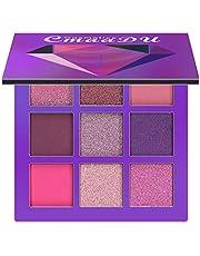 YUnnuopromi Paleta de sombra de ojos con purpurina de 9 colores mate pigmentado brillante herramienta de maquillaje