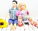 Pregnant for Barbie Doll,A family of four,Have a Baby In Her Tummy ,Pregnant Tummy and Baby