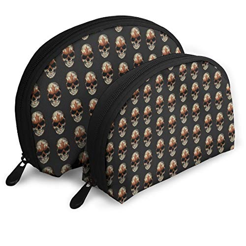 lag Skull Head Multifunction Shell Portable Bags,Storage Bag,Buggy Bag,Travel Cosmetic Bags,Small Makeup Clutch,Pouch Cosmetic,Toiletries Organizer Bag ()