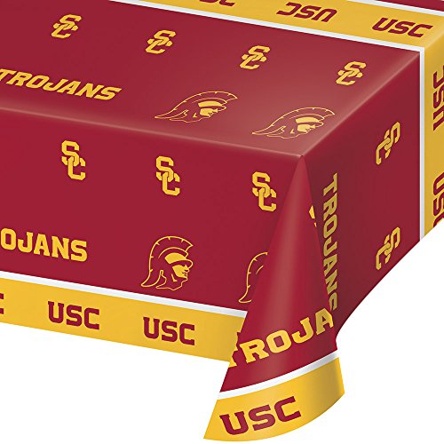 2-ct University of Southern California Trojans Premium Plastic Table Covers College Football -