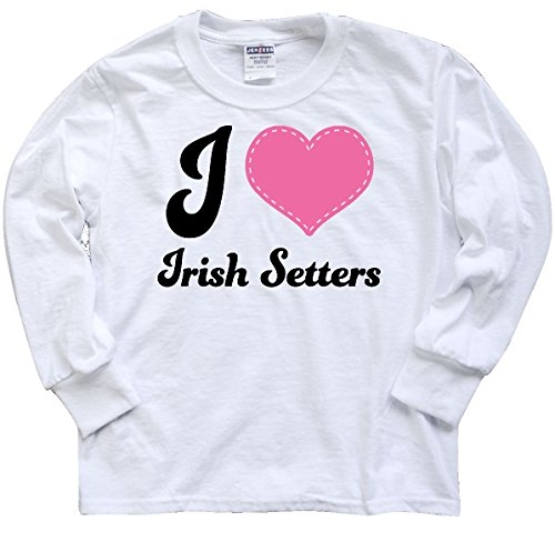 inktastic Love Irish Setters Youth Long Sleeve T-Shirt Youth X-Large (Setter Youth T-shirt)