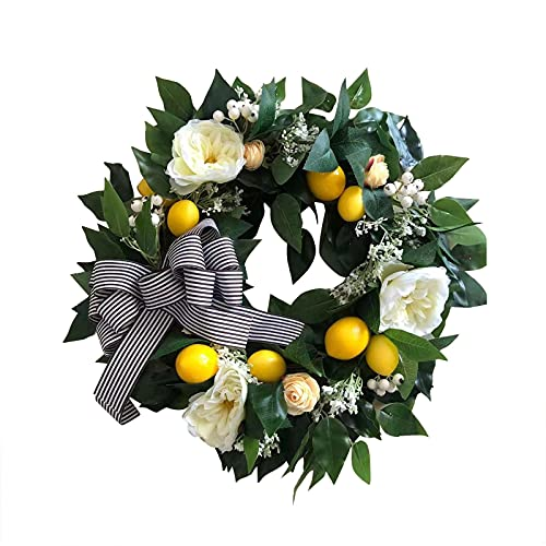 Simulation Garland Door Decoration Ring Small Thorn Door Leaf Wreath Outdoor Decor Front Door Wall Window Party Hanging Decor