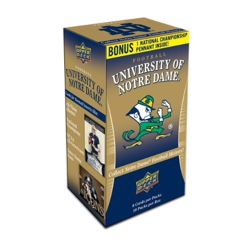 2013 Ncaa Football Champion - NCAA 2013 Upper Deck University of Notre Dame Football Blaster Trading Cards