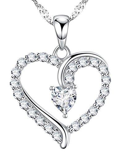 April Birthstone Love Heart Ne