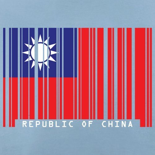 Republic of China / Republik China (Taiwan) Barcode Flagge - Herren T-Shirt - Himmelblau - M