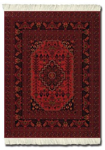 fghan MouseRug, 10.25 x 7.125 Inches, Black, White and Dark Orange, One (SRA-SE) ()