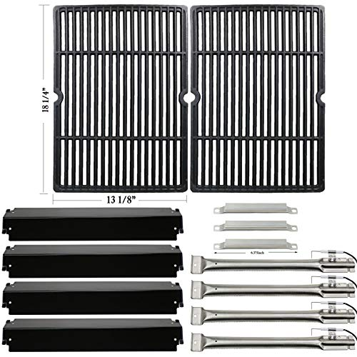Hisencn Replacement Rebuild Kit for Charbroil Commercial 463268606, 463268007 Gas Grill Burner,Carryover Tubes, Heat Plates, Grill Cooking Grids Grates, Igniter ()
