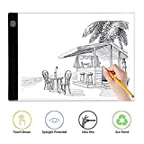 FANHHUI 3 Level Adjusable Brightness A4 Ultra-thin Portable LED Light Box tracer USB Power LED Artcraft Tracing Light Pad Light Box for Artists,Drawing, Sketching, Animation