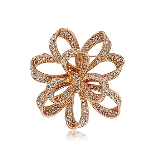 Kemstone Gold Plated Crystals Knot Brooch Pin Women's (Knot Brooch Pin)