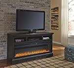 Signature Design by Ashley W100-22 Entertainment Accessories Wide Fireplace Insert, Black from Signature Design by Ashley (SIGOA)