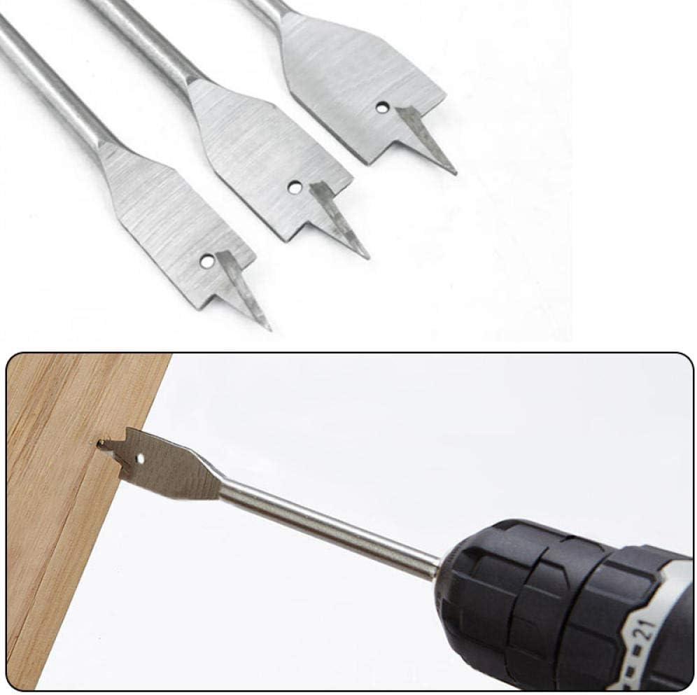 Drill Bit 6pcs 10-25mm Durable Woodworking Tool Sets Flat Drill Long High-carbon Steel Wood Flat Drills Spade Drill Bits