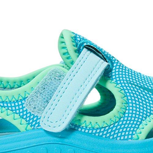 Nike Sunray Protect (TD), Sandalias Unisex Bebé Azul (Still Blue/Chlorine Blue/Electro Green 400)