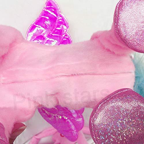 Electric Unicorn Pet Kids Leash Plush Pink Wings Stuffed Animal Toy,Sing Song Walk Twisting Super Cute Ass Unicorn Child Girl Baby Accompany Sleeping Animal Soft Toys Gift by Pink stars (Image #3)