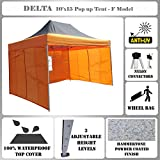 10'x15′ Pop up Canopy Wedding Party Tent Gazebo EZ Black Orange – F Model Commercial Frame By DELTA Canopies For Sale