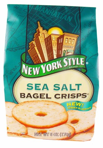 BG New York Style Original Sea Salt Bagel Crisps, 7.2 Ounce (Pack of 12)