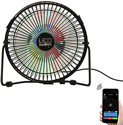 RGB DIY Programable USB LED Ventilador de enfriamiento de 360 ° rotación con reloj de pantalla colorida de escritorio portátil de 6 pulgadas: Amazon.es: Hogar