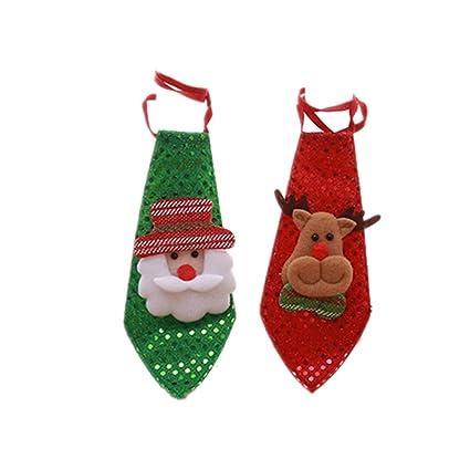 NUOBESTY 2 Piezas Corbatas de Navidad decoración Encantadora ...