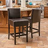 Great Deal Furniture (Set of 2) Seigel Brown Bonded Leather Counter Stool Review