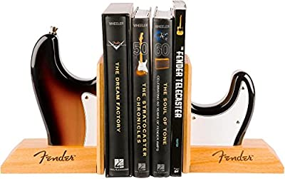 Fender Stratocaster Electric Guitar Body Bookends - Sunburst from Fender Musical Instruments Corp.