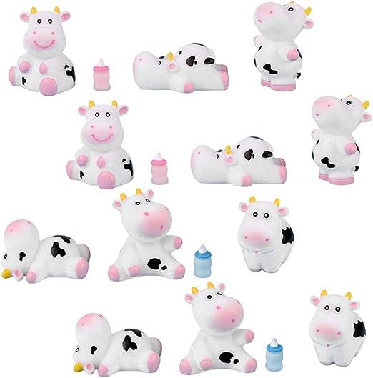 VOSAREA 16 Piezas de Figuras de Vaca en Miniatura artesanías de Animales para decoración de jardín de Hadas de Regalo: Amazon.es: Hogar