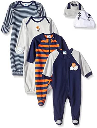 Gerber Baby Boys'  6 Piece Seriously Cute Sleepwear Essential Gift Set