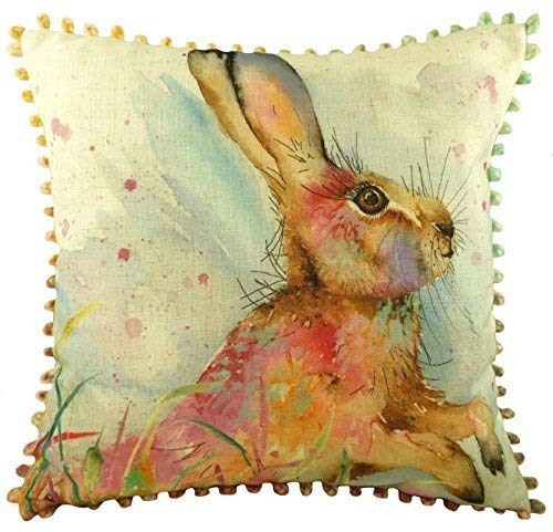 "Filled Luxury Evans Lichfield Fantasy Llamas POM pompons cuisine look Cushion 17/"""
