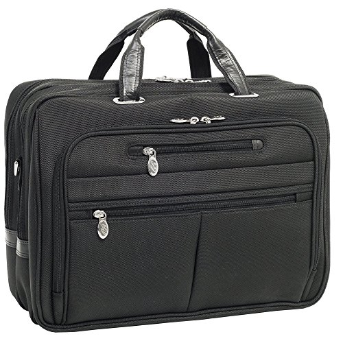 Blk Patent Leather Bag (McKleinUSA ROCKFORD 76515 Black Nylon Fly-Through Checkpoint-Friendly 17 Laptop Case)