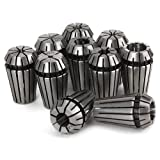 BQLZR High Accuracy ER16 Spring Steel Collets Set for Boring Milling Pack of 10