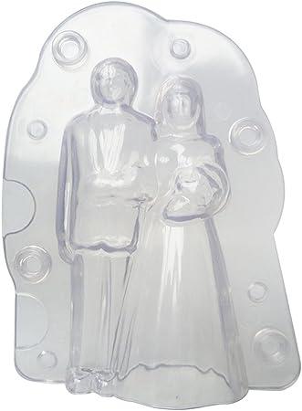 Molde de chocolate 3D novia romántico para decoración de tartas de ...