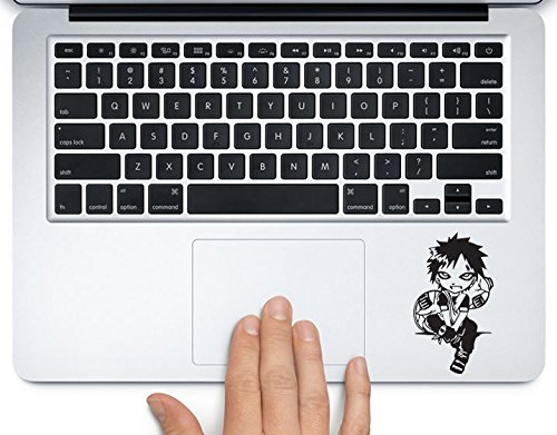 Gaara of Sand Naruto Printed Trackpad Clear Vinyl Decal Sticker Compatible with Apple MacBook Pro Air 11