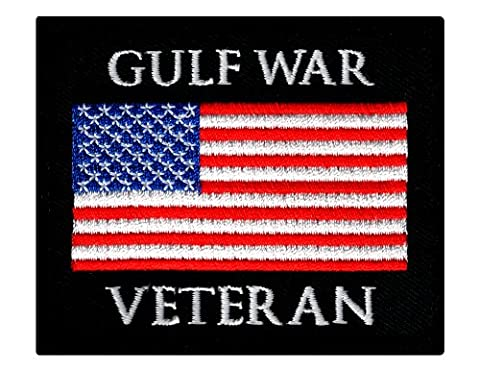 Gulf War Veteran Embroidered Patch US Military Iraq Vet Iron-On Emblem Flag - Military Vet Patch
