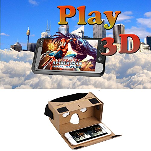 Blingkingdom – (2pcs in Pack) Google Cardboard Headset 3D Virtual Reality VR Goggles for Android Smart Phones iPhone + NFC and Head-strap post thumbnail