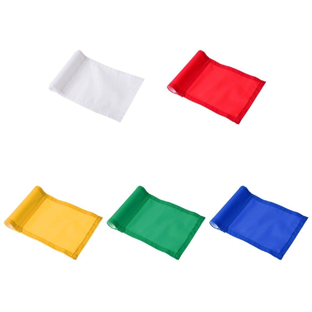 MagiDeal 5 Pieces Mixed Color Putting Green Flags Golf Backyard Practice Target Aids