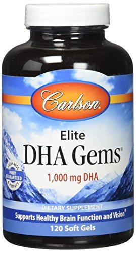 Carlson Labs Elite DHA Gems Soft Gels, 120 Count