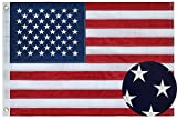 SUNYAO American Flag 3×5 ft Embroidered Stars and Sewn Stripes with Brass Grommets Oxford Nylon US Flag Built for Outdoor or Indoor Use, Office Workplace Home Garden Business