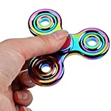 Tri Fidget Hand Spinner Toy, Colourful Aluminum Alloy Hand Spinner EDC Fidget Toy Stress Reducer Made Bearing Focus Anxiety Relief Toys For Kids & Adults