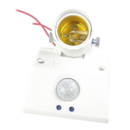 Sharplace Interruptor de Enchufe de Bombilla E27 Sensor Convertidor Zócalo Luz Base Iluminación Casero