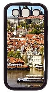 Samsung Galaxy S3 Case Cover - Prague City View Customzie Case for Samsung S3 SIII I9300 - Polycarbonate - Black