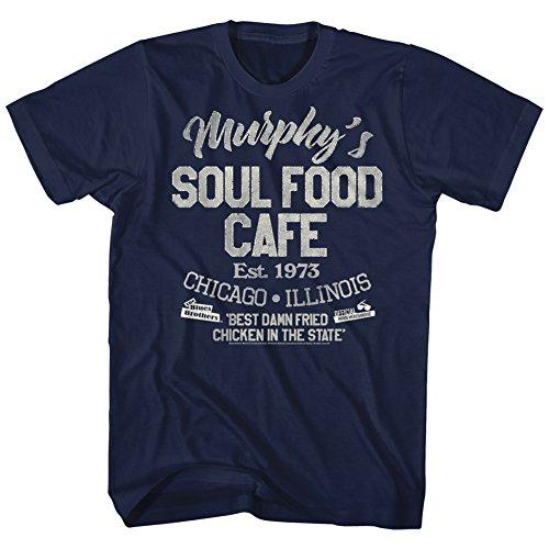 Blues Brothers Comedy Action Crime Murpheys Soul Food Café Adult T-Shirt Tee