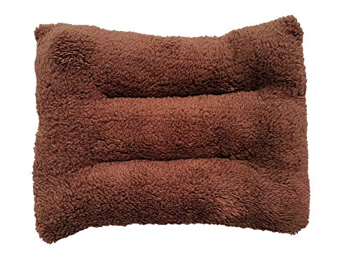 WOWOWMEOW Guinea-Pigs Warm Bed Mat Small Animals Cage Cozy Bed Blanket for Bunny, Hamster, Squirrel, Hedgehog, and Chinchilla (Coffee)