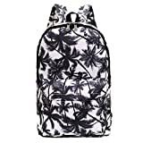Printed Canvas Casual Backpack Travel Shoulder Bag Students Schoolbag Satchel College Rucksack (Palm Tree)