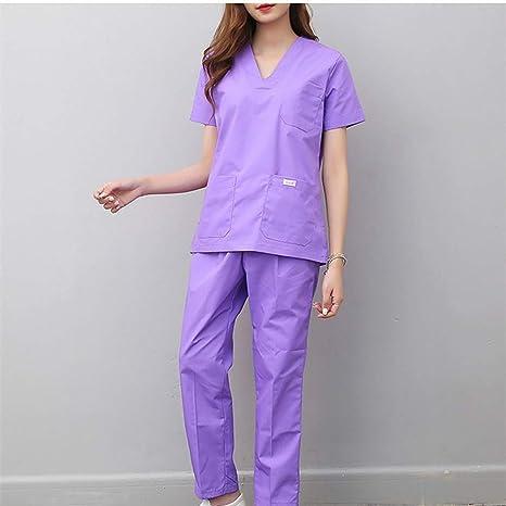 OPPP Ropa médica Uniformes de enfermería de Mujer Ropa de Hospital Ropa de Trabajo Ropa de