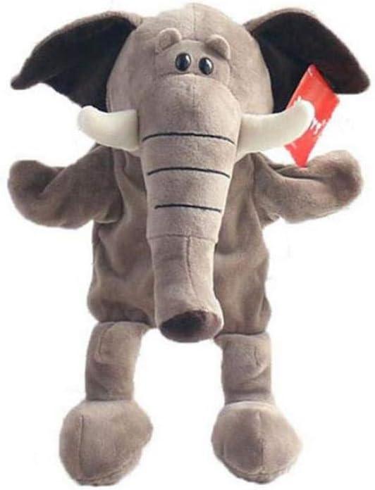 Elefante de la historieta prima de marionetas adorables de la felpa de mano de elefantes del zoológico Amigos Animales educativos Peluches Muñecas Juguetes para niños de 30 cm Inicio