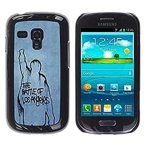 Be Good Phone Accessory // Dura Cáscara cubierta Protectora Caso Carcasa Funda de Protección para Samsung Galaxy S3 MINI NOT REGULAR! I8190 I8190N // Battle Of Los Angeles